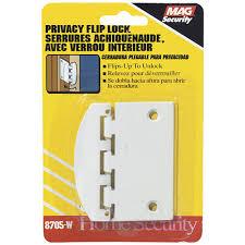 Prime Line Sliding Door Lock Privacy 2 34 in White SteelU 9888