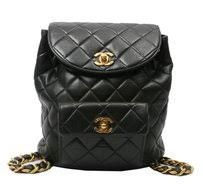Chanel Black Lamskin Leather backpack - Tradesy & Chanel Vintage Quilted Backpack Adamdwight.com