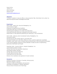 Security Guard Sample Resume Resume Of Account Manager Welders Resume