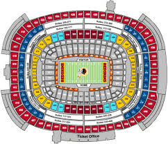 Wembley Stadium Nfl Seating Chart Nfl Football Stadiums Washington Redskins Stadium Fedexfield