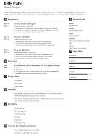 Graphic Designer Resume Template Guide 20 Examples