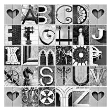 Abc Art Letters Alphabet Print ABCs Photo Letter From Architectural