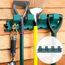 garden wall mounted tool hanger shed garage secure hold tidy organiser rack hang