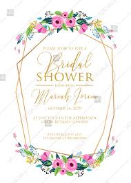 Bridal Shower Wedding Invitation Set Pink Tulip Peony Card Template Pdf 5x7 In Personalized Invitation
