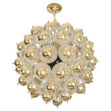 monumental brass sputnik style chandelier chandeliers pendants john salibello