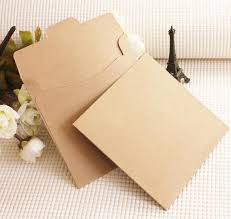 Cd Paper Case 100pcs Brown Kraft Cd Paper Case Blank Kraft Envelopes Natural Plain