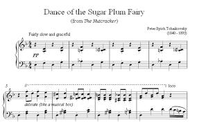 dance of the sugar plum fairy sheet music dance of the sugar plum fairy free piano sheet music