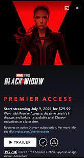 black widow premier access disney+ ...
