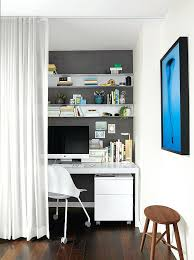 Office Design For Small Spaces Gorgeous Small Space Office Small Space Office With Rolling Chair And Desk