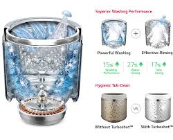 3 tub clean technology can vary depending on the turboshot