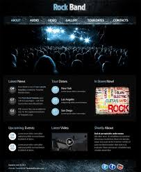 Music Website Templates Extraordinary Free Website Template With JQuery Gallery For Music Site Pinterest
