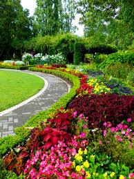 MemorialPark1. Memorial Park has a beautiful flower garden.