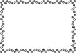 秋冬の花の飾り枠15 コスモス 花の無料イラスト素材 イラストポップ