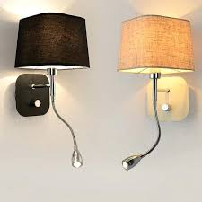 sconce with switch led light wall switch hotel bedside wall sconce flexible arm bedside reading lighting modern wall lamp sconce light with on off switch
