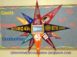 bulletin board designs for office. college pennant pinwheel bulletin board life on the fly a school counselor designs for office