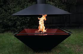 metal outdoor fireplace design ideas