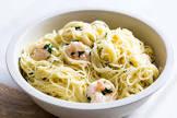 angel hair pasta w shrimp and asparagus for 2