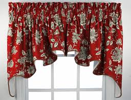 Patterns For Kitchen Curtains Red Kitchen Curtains And Valances