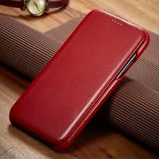Retro <b>Cowhide</b> Genuine <b>Leather Case</b> for iPhone 11 5.8 6.1inch ...