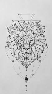 Lion Tattoo On Pinterest Geometric Lion Lion Tattoo And Lion