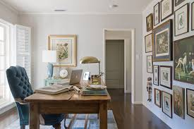 home office home office makeover emily. a happy yet sophisticated office space for this writer that gallery wall slays me i think 70 of those paintingsprints were hers already so we just home makeover emily l
