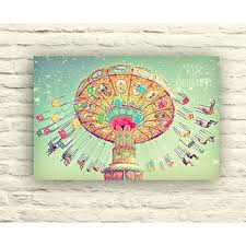 carnival swings photo whimsical art canvas wall decor starry on whimsical wall art on canvas with best whimsical canvas art products on wanelo