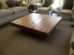 Creative Ideas, Very Low And Large Oak Coffee Table: Make your Room even  Delicious