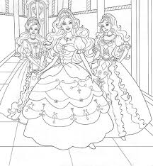 Barbie Two Friends Coloring Pages Barbie Coloring Pictures