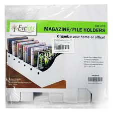 Magazine Holder Cardboard Evelots Set of 100 Magazine File Holder Organizer Boxes W Labels 89