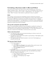 Letter Business Letter Template Word 2007