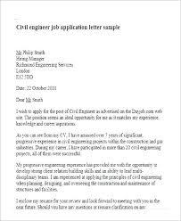 Job Applications Sample Application Letter Sample For Civil Engineer