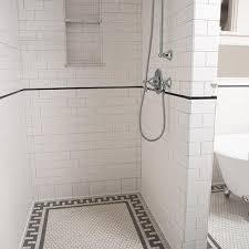 subway tile walk in shower. Delighful Subway Greek Key Shower Tiles With Subway Tile Walk In N