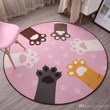 2019 kawaii carpet for home decor fluffy bathroom round shape bath mats baby floor mats carpet mattress for bathroom absorption rugs study carpet from