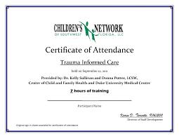 Certificate Of Attendance Seminar Sample Best Of Certi Training