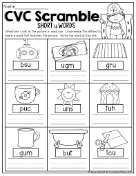 Cvc Worksheets Kindergarten & english teaching worksheets cvc words