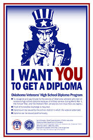 veterans high school diploma oklahoma state department of education in order to recognize and pay tribute to veterans who left high school prior to graduation to serve in world war ii in the korean war or in the vietnam