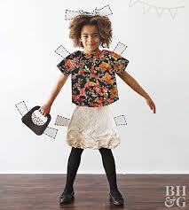 child costume paper doll