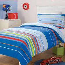 15 best Doonas images on Pinterest | Kidsroom, Bedspreads and Blue ... & DANNY Stripes Blue - BOYS Quilt Doona Cover Set - SINGLE Adamdwight.com