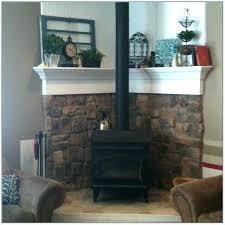 corner stove fireplace wood burning ideas best surround h