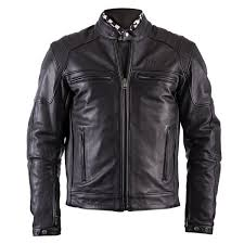 motorcycle jackets helstons trust leather plain black