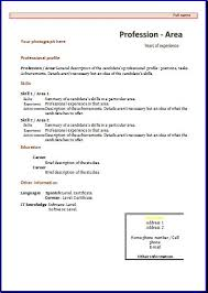 Resume Template In Spanish Best CV Formats And Templates Resume Templates Resume Template Ideas