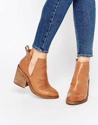 sharni tan leather cut out ankle boots