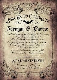 Halloween Wedding Invitations Spooktacular Halloween Wedding Invitations Victorian Goth