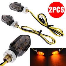 Treyues <b>2pcs</b> Mini Universal Motorcycle <b>LED</b> Turn Signal Indicators ...
