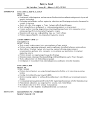 Structural Eit Resume Samples Velvet Jobs