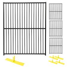 wire fence panels home depot. 4-Panel Black Powder-Coated European Style Wire Fence Panels Home Depot N