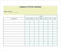 Blank Employee Schedule Template Mediaschool Info