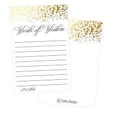 Hadley Designs Hadley Designs 50 Gold Words Of Wisdom Advice Cards Use As