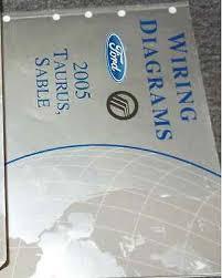 2006 ford taurus oem electrical wiring diagrams service manual 2005 ford taurus mercury sable electrical wiring diagram manual ewd evtm oem