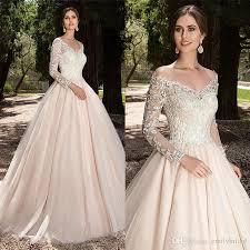 discount 2018 spring fashion a line champagne wedding dress